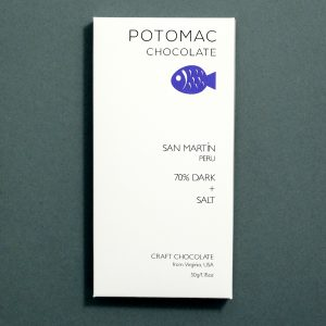 San Martin, Peru 70% DARK + SALT Chocolate Bar