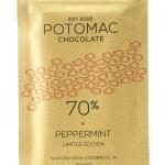 Potomac Chocolate -- 70% DARK + PEPPERMINT chocolate bar