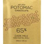 Potomac Chocolate - San Martin, Peru 65% Dark Milk Chocolate