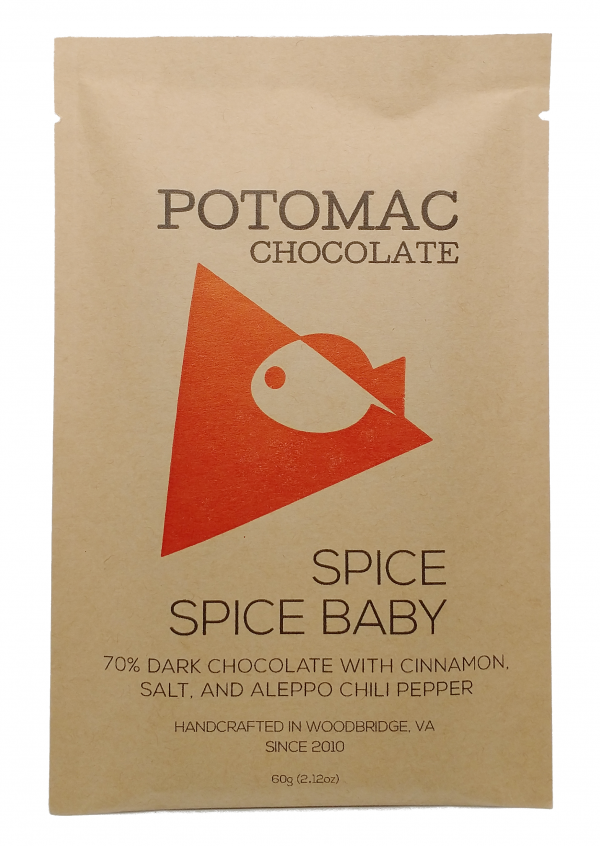 Spice Spice Baby - Dark Chocolate Bar spiced with cinnamon, sea salt, and aleppo chili pepper