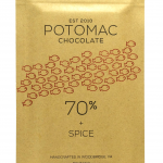 Potomac Chocolate - 70% + SPICE Dark Chocolate