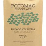 Tumaco, Colombia 70% Dark Chocolate Bar -- Potomac Chocolate