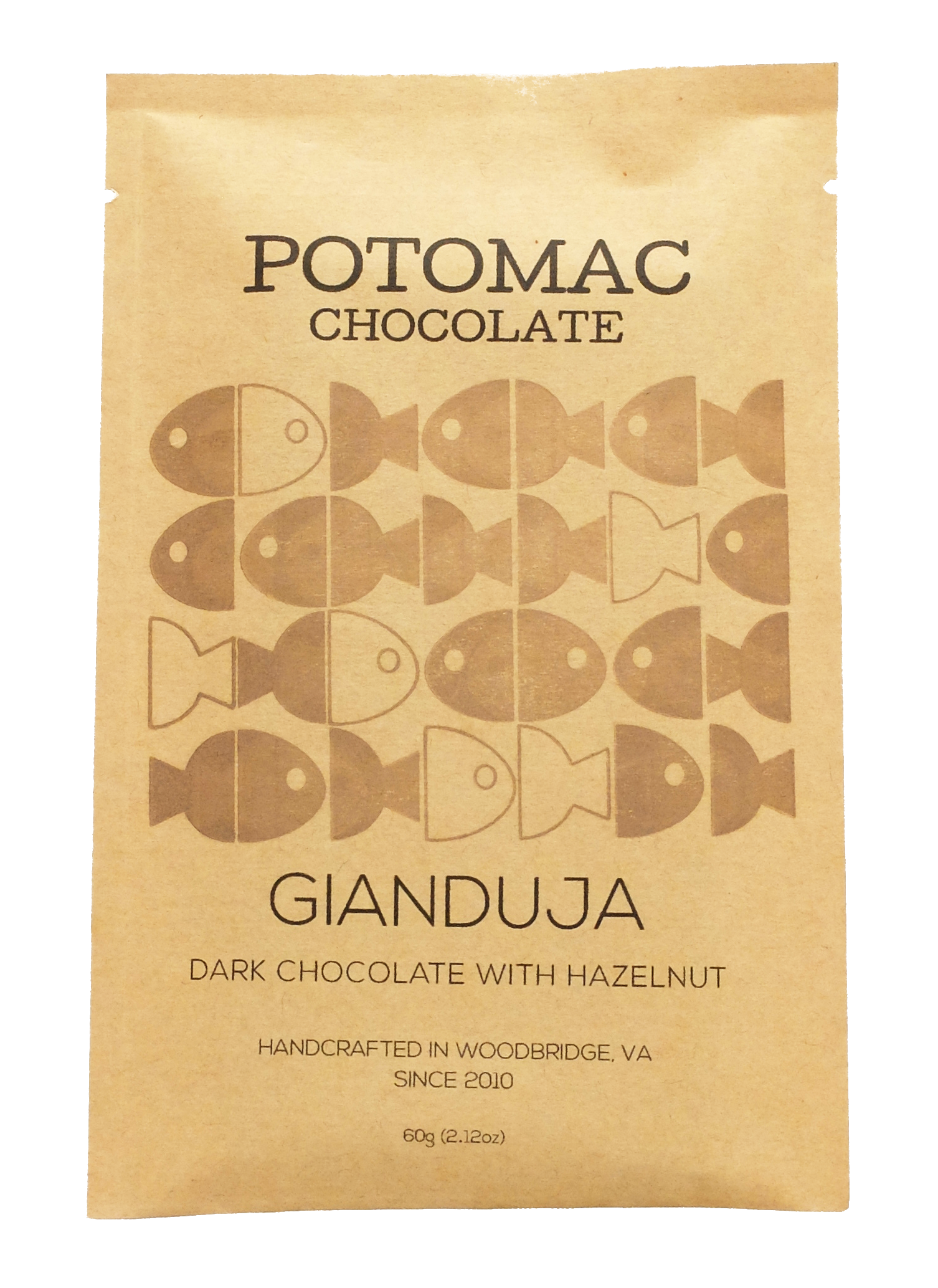 Potomac Chocolate - Gianduja Bar (Dark Chocolate with Hazelnut)