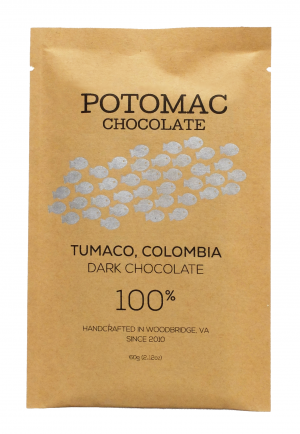 Potomac Chocolate - Tumaco, Colombia 100% Extra Dark Chocolate