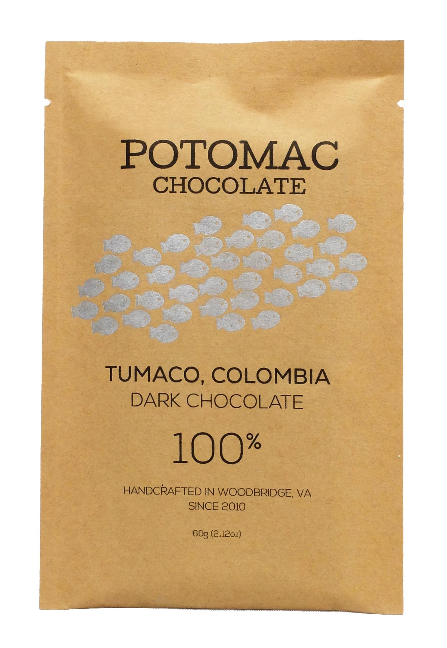 Potomac Chocolate - Tumaco, Colombia 100% Extra Dark Chocolate